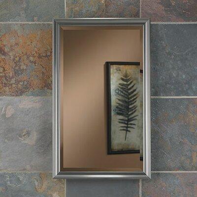 Studio V Frame Finish: Satin Nickel, Size: 25 H x 15 W x 4 D