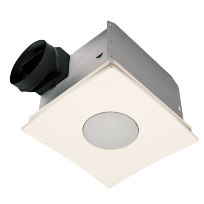 Ultra Silent Quietest Bathroom Fan with Fluorescent Light - Energy Star Fan strength: 110 CFM