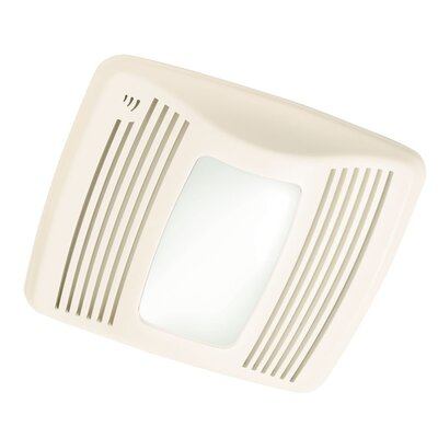 Ultra Silent 110 CFM Humidity Sensing  Exhaust Bathroom Fan with Light