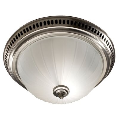 70 CFM Bathroom Fan with Light Finish: Satin Nickel