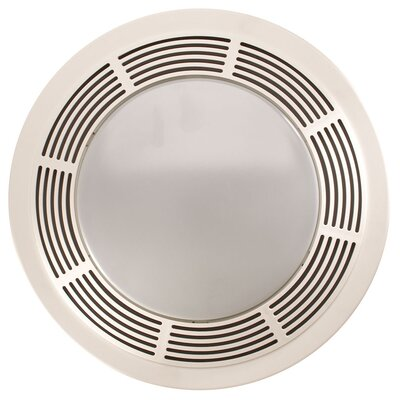 Round 100 CFM Exhaust Bathroom Fan with Light
