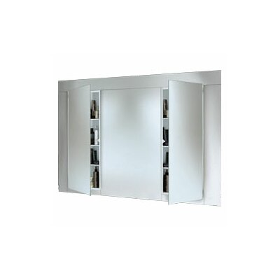 Specialty Illusion Single Recessed Cabinet in White Baked Enamel