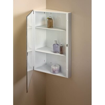 Specialty Single Door 16 x 30 Corner Mount Medicine Cabinet Finish: White