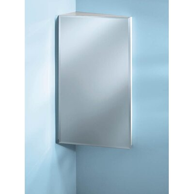 Specialty Single Door 16 x 30 Corner Mount Medicine Cabinet Finish: Chrome