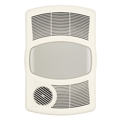 100 CFM Exhaust Bathroom Fan with Heater Bulb Type: Standard