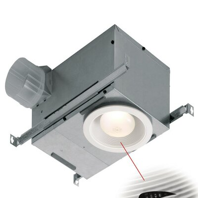 Humidity Sensing Fan/Fluorescent Light Recessed Trim