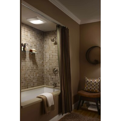 Aero Pure Bathroom Two Bulb 80 CFM Heater / Quiet Fan / Light ...