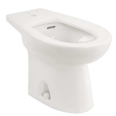 "Piedmont 15"" Deck Floor Mount Bidet Bidet Finish: Cotton"