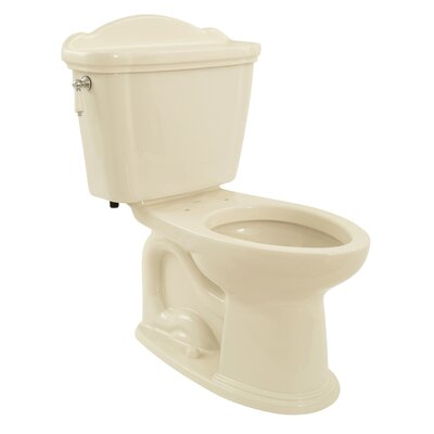 Whitney Eco 1.28 GPF Elongated Two-Piece Toilet Toilet Finish: Bone