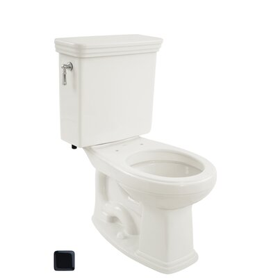 Promenade 1.6 GPF Round Two-Piece Toilet Toilet Finish: Ebony