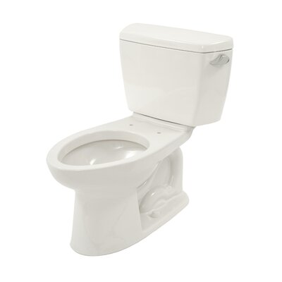 Drake ADA Compliant 1.6 GPF Elongated Two-Piece Toilet Finish: Cotton, Lever Location: Right