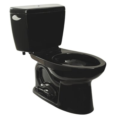 Drake 1.6 GPF Elongated Two-Piece Toilet Toilet Finish: Ebony