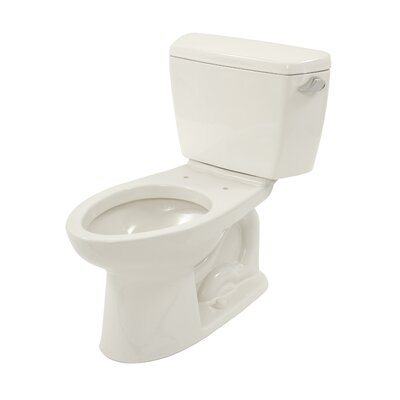 Drake ADA Compliant 1.6 GPF Elongated Two-Piece Toilet Finish: Colonial White, Lever Location: Left
