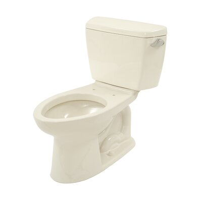 Drake ADA Compliant 1.6 GPF Elongated Two-Piece Toilet Finish: Sedona Beige, Lever Location: Right