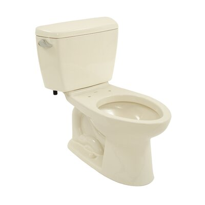 Drake Eco 1.28 GPF Elongated  Two-Piece Toilet Toilet Finish: Bone, Trip Lever Orientation: Left-Hand