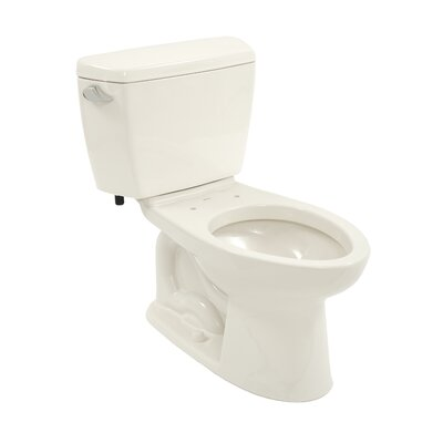 Drake Eco 1.28 GPF Elongated Two-Piece Toilet Trip Lever Orientation: Left-Hand, Toilet Finish: Colonial White