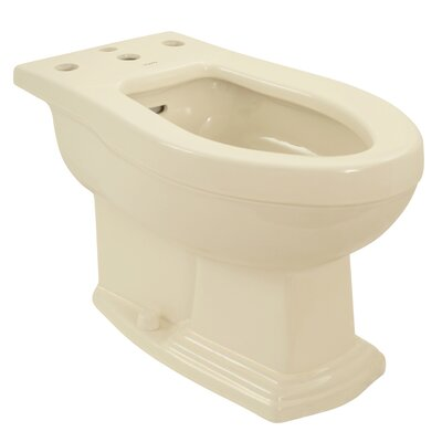 Clayton 15 Floor Mount Bidet Bidet Finish: Bone