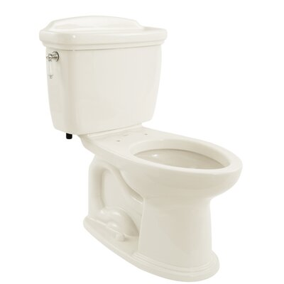Dartmouth 1.6 GPF Elongated Two-Piece Toilet Toilet Finish: Colonial White