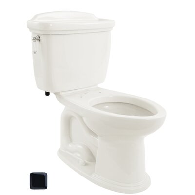 Dartmouth 1.6 GPF Elongated Two-Piece Toilet Toilet Finish: Ebony