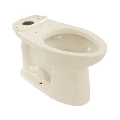 Drake Eco 1.28 GPF Elongated Toilet Bowl Finish: Colonial White, Lever Location: Right