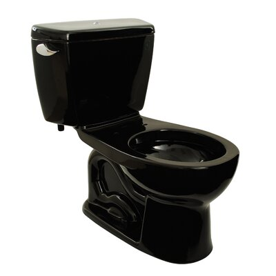 Drake 1.6 GPF Round Two-Piece Toilet Toilet Finish: Ebony