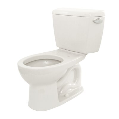 Drake Eco 1.28 GPF Round Two-Piece Toilet Toilet Finish: Cotton, Trip Lever Orientation: Right-Hand
