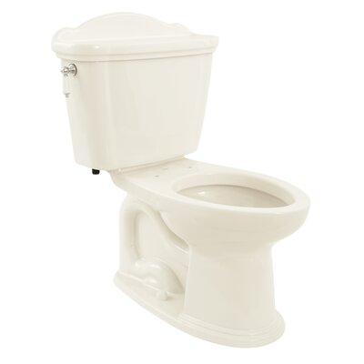 Whitney 1.6 GPF Elongated Two-Piece Toilet Toilet Finish: Colonial White