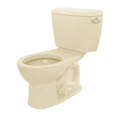 Drake 1.6 GPF Round Two-Piece Toilet Toilet Finish: Bone, Trip Lever Orientation: Left-Hand