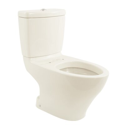Aquia II Dual Flush Elongated Two-Piece Toilet Toilet Finish: Colonial White