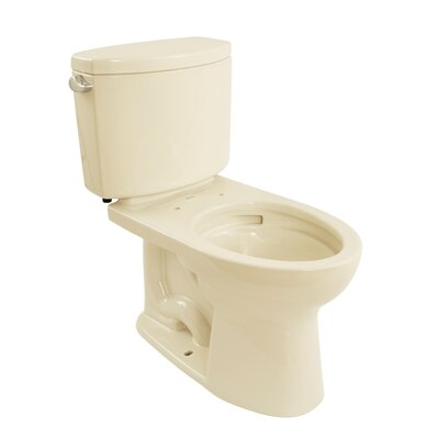 Drake II 1.28 GPF Elongated Two-Piece Toilet Toilet Finish: Bone