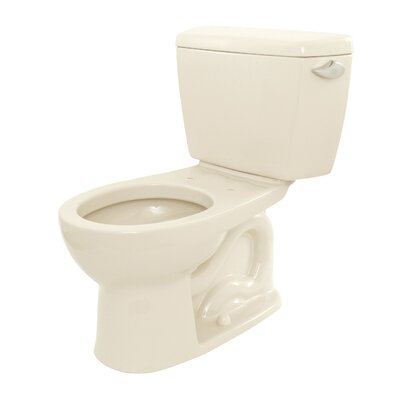 Drake 1.6 GPF Round Two-Piece Toilet Toilet Finish: Sedona Beige, Trip Lever Orientation: Left-Hand