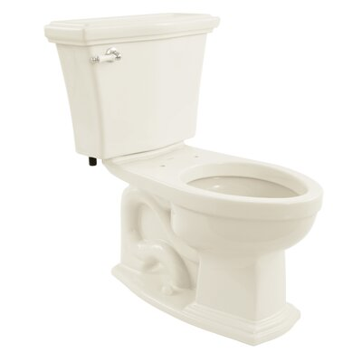 Clayton Eco 1.28 GPF Elongated Two-Piece Toilet Toilet Finish: Colonial White