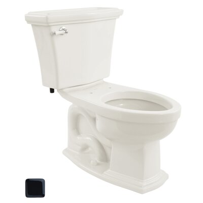 Clayton Eco 1.28 GPF Elongated Two-Piece Toilet Toilet Finish: Ebony