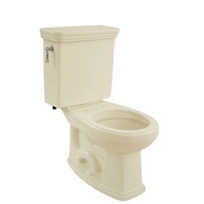 Promenade Eco 1.28 GPF Round Two-Piece Toilet Toilet Finish: Bone