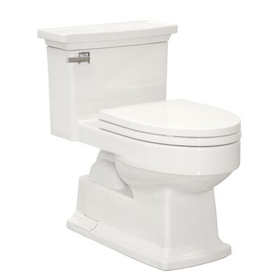 Lloyd Eco 1.28 GPF Elongated One-Piece Toilet Toilet Finish: Cotton