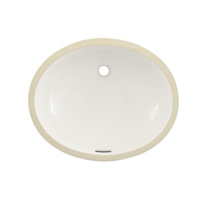 Reliance Commercial Ceramic Oval Undermount Bathroom Sink with Overflow Sink Finish: Bone