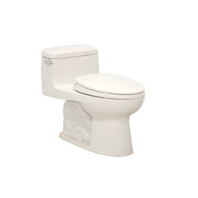 Supreme Eco 1.28 GPF Elongated One-Piece Toilet Toilet Finish: Colonial White