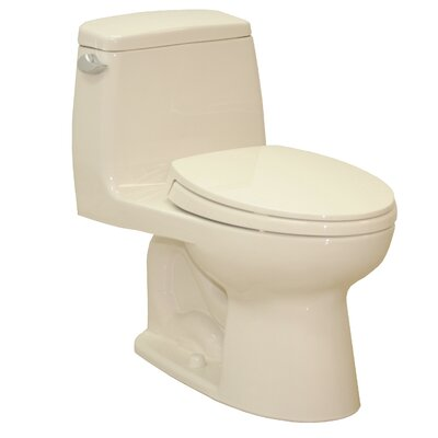 UltraMax Eco 1.28 GPF Elongated One-Piece Toilet Lever Location: Left-Hand, Finish: Bone