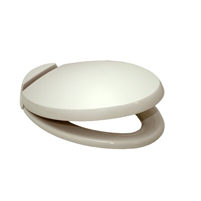 SoftClose Elongated Beveled Lid Toilet Seat Seat Finish: Bone