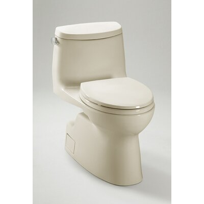 Carlyle 1.28 GPF Elongated One-Piece Toilet Finish: Cotton, Lever Location: Right-Hand