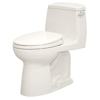 Ultramax ADA Compliant Low Consumption 1.6 GPF Elongated One-Piece Toilet Toilet Finish: Cotton, Trip Lever Orientation: Left-Hand