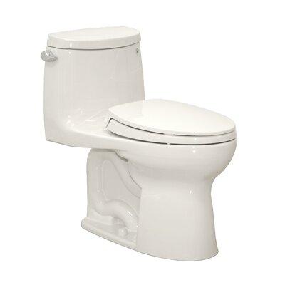 Ultramax II 1.28 GPF Elongated One-Piece Toilet Finish: Cotton, Flush: Right