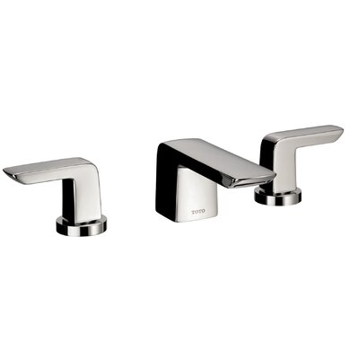 Soiree Double Handle Widespread Bathroom Faucet Faucet Finish: Brushed Nickel