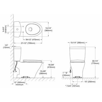 Aquia II 1.6 GPF Elongated Toilet Bowl Toilet Finish: Sedona Beige