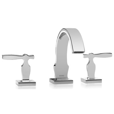 Aimes Double Handle Widespread Bathroom Faucet Finish: Polished Nickel