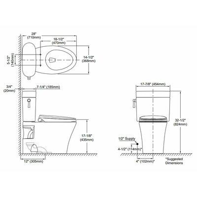 Nexus 1.6 GPF Elongated Two-Piece Toilet Finish: Cotton