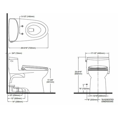 Supreme II High Efficiency 1.28 GPF Elongated One-Piece Toilet