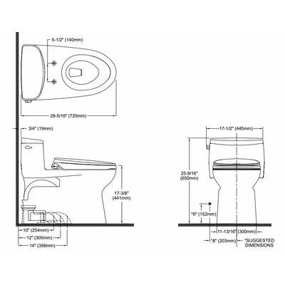 Supreme II High Efficiency 1.28 GPF Elongated One-Piece Toilet
