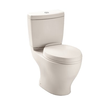 Aquia Dual Flush Elongated Two-Piece Toilet Toilet Finish: Colonial White