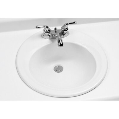 Self Rimming Bathroom Sink Faucet Mount: Single Hole